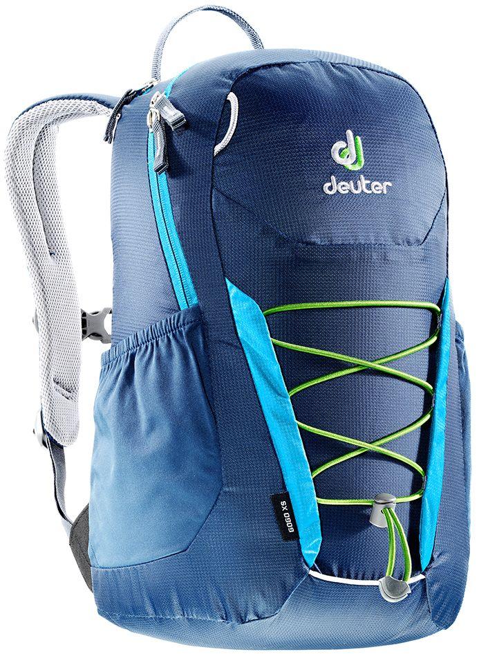 Рюкзак Deuter Gogo XS, цвет: синий, темно-синий, 13 л3611017_3306Детский вариант классического городского рюкзака Deuter Gogo подходит для детей от 5 лет и старше, для походов в бассейн или на занятия спортом. Анатомическая спинка и современный дизайн делают этот рюкзак одним из лучших для юного поколения. Особенности: - спина хорошо вентилируется благодаря системе Airstripes; - для детей в возрасте от 5 лет; - анатомические, мягкие плечевые лямки; - удобный доступ в основное отделение с 2-ходовой полукруглой молнией;- внешний карман на молнии;- эластичные боковые карманы;- плавно регулируемый грудной ремешок;- отделение для мокрых вещей;- эластичный шнур-стяжка на внешней стороне.Вес: 330 г.Объем: 13 л.Размеры: 39 x 23 x 17 см.Материал: Macro Lite 210.