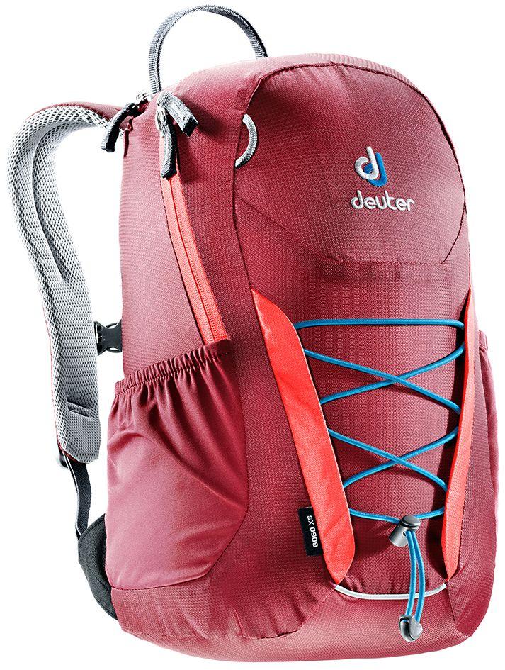 Рюкзак Deuter Gogo XS, цвет: бордовый, 13 л3611017_5553Детский вариант классического городского рюкзака Deuter Gogo подходит для детей от 5 лет и старше, для походов в бассейн или на занятия спортом. Анатомическая спинка и современный дизайн делают этот рюкзак одним из лучших для юного поколения. Особенности: - спина хорошо вентилируется благодаря системе Airstripes; - для детей в возрасте от 5 лет; - анатомические, мягкие плечевые лямки; - удобный доступ в основное отделение с 2-ходовой полукруглой молнией;- внешний карман на молнии;- эластичные боковые карманы;- плавно регулируемый грудной ремешок;- отделение для мокрых вещей;- эластичный шнур-стяжка на внешней стороне.Вес: 330 г.Объем: 13 л.Размеры: 39 x 23 x 17 см.Материал: Macro Lite 210.