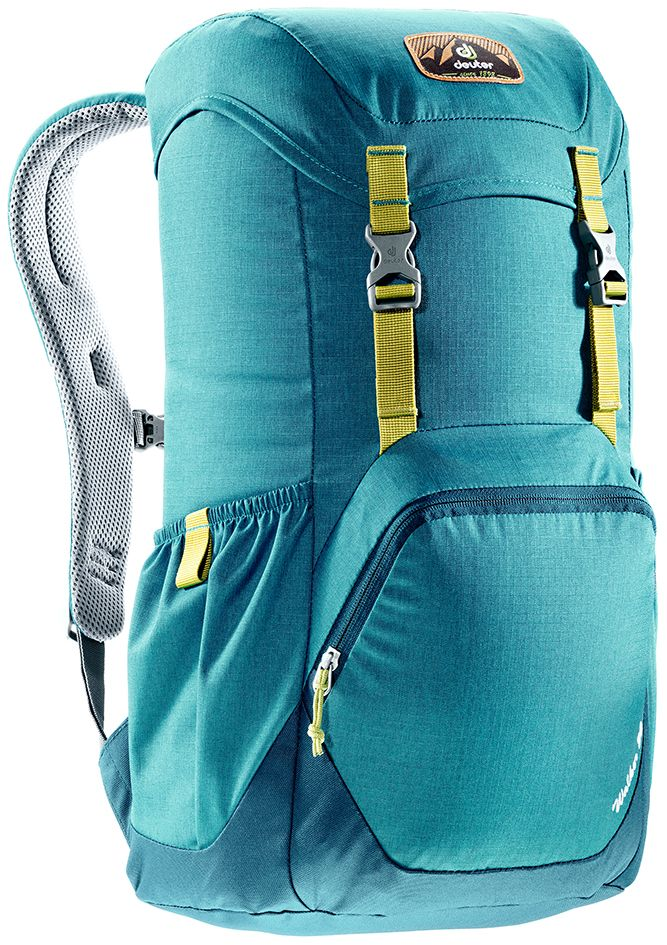 Рюкзак Deuter Walker 20, цвет: голубой, темно-синий, 20 л3810617_3325Компактный, спортивный рюкзак идеально подходит для людей, предпочитающих пешие прогулки. Система подвески AirComfort с великолепной вентиляцией и легкие материалы в конструкции делают рюкзак настолько удобными, что вы забудете, что у вас за спиной рюкзак.Особенности: Спинка Airstripes для великолепной вентиляции; Очень комфортные, эргономичные, с мягкими краями плечевые лямки; Отделение для документов; Карабин для ключей; Боковые карманы с эластичным, растягивающимся краем; Большой накладной карман на молнии с органайзером для мобильного телефона, кошелька и т.д. ; Сменный, в ретро-стиле, съемный поясной ремень; Внутренний карман для ценных вещей (Walker 16 & 20). Размер рюкзака: 48 х 28 х 21.