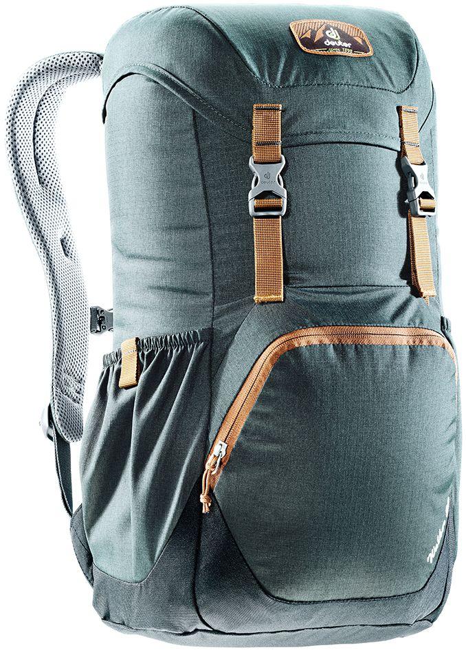Рюкзак Deuter Walker 20, цвет: серый, черный, 20 л3810617_4750Компактный, спортивный рюкзак идеально подходит для людей, предпочитающих пешие прогулки. Система подвески AirComfort с великолепной вентиляцией и легкие материалы в конструкции делают рюкзак настолько удобными, что вы забудете, что у вас за спиной рюкзак.Особенности: Спинка Airstripes для великолепной вентиляции; Очень комфортные, эргономичные, с мягкими краями плечевые лямки; Отделение для документов; Карабин для ключей; Боковые карманы с эластичным, растягивающимся краем; Большой накладной карман на молнии с органайзером для мобильного телефона, кошелька и т.д. ; Сменный, в ретро-стиле, съемный поясной ремень; Внутренний карман для ценных вещей (Walker 16 & 20). Размер рюкзака: 48 х 28 х 21.