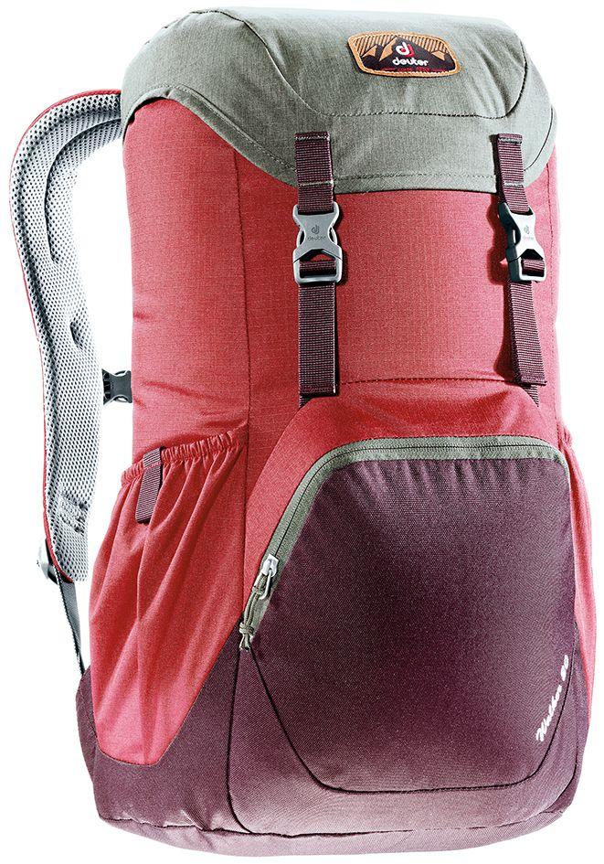 Рюкзак Deuter Walker 20, цвет: бордовый, фиолетовый, 20 л3810617_5005Компактный, спортивный рюкзак идеально подходит для людей, предпочитающих пешие прогулки. Система подвески AirComfort с великолепной вентиляцией и легкие материалы в конструкции делают рюкзак настолько удобными, что вы забудете, что у вас за спиной рюкзак.Особенности: Спинка Airstripes для великолепной вентиляции;Очень комфортные, эргономичные, с мягкими краями плечевые лямки; Отделение для документов; Карабин для ключей; Боковые карманы с эластичным, растягивающимся краем; Большой накладной карман на молнии с органайзером для мобильного телефона, кошелька и т.д. ; Сменный, в ретро-стиле, съемный поясной ремень; Внутренний карман для ценных вещей (Walker 16 & 20). Размер рюкзака: 48 х 28 х 21.