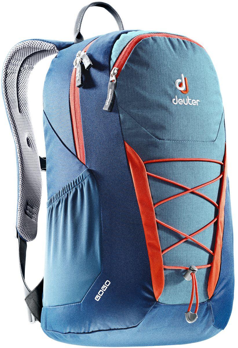 Рюкзак Deuter Gogo, цвет: темно-синий, 25 л3820016_3358Представляем обновленный, обтекаемый, с техническим дизайном рюкзак Deuter Gogo для школы, офиса и на каждый день. В нем сохранились все практичные опции, и добавилась новая комфортная подвесная система.Особенности: - спинка Airstripes для великолепной вентиляции;- очень комфортные, эргономичные, мягкие плечевые лямки;- легкий доступ в основное отделение через двухходовую U-образную молнию;- передний карман на молнии с карабином для ключей;- эластичные боковые карманы;- нагрудный ремешок с плавной регулировкой;- сменный поясной ремень;- главное отделение размером папки для бумаг;- отделение для документов;- эластичный корд на фронтальной части рюкзака;- внутренний карман для ценных вещей.Вес: 590 г.Объем: 25 л.Размеры: 46 x 30 x 21 см.Материал: Super-Polytex.