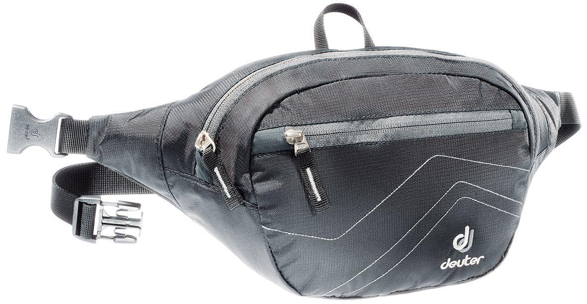 Сумка поясная Deuter Belt II, цвет: серый, черный39014_7520Все необходимое под рукой и надежно защищено в сумке Deuter Belt II: кошелек, путеводитель, солнечные очки, мобильный телефон. Сумка спортивного дизайна аккуратная, компактная и легкая.Особенности:- центральное отделение,- внутренний сетчатый карман на молнии,- передний карман на молнии,- регулируемый поясной ремень,- крючок для ключей,Объем: 2,5 л.Размеры: 33 х 16 х 8 см.Вес: 130 г.