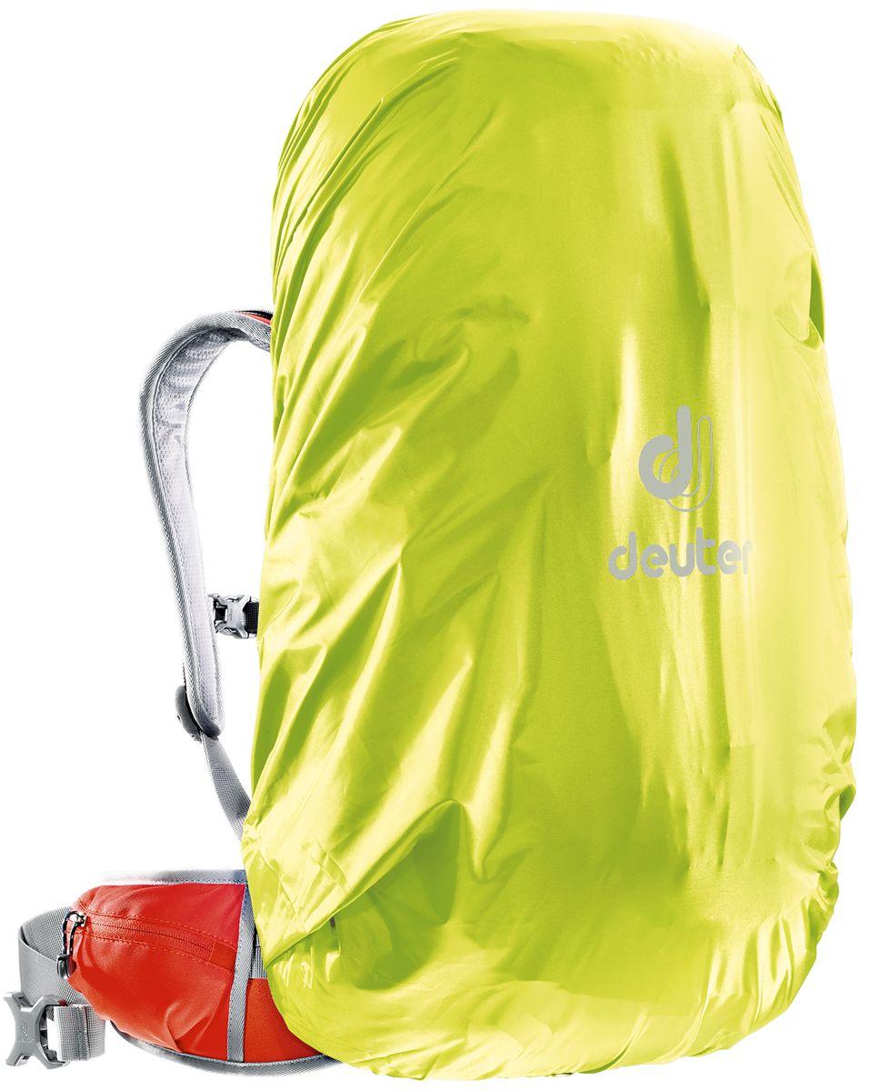 Чехол для рюкзака Deuter Raincover II, от дождя, цвет: желтый, 30-50 л67742Чехол от дождя Deuter Raincover II яркого неонового цвета гарантирует, что ваш рюкзак и его содержимое останется сухим даже после проливного дождя. Отличная влагозащита благодаря полиуретановому покрытию и швам, проклеенным лентой.Материал: Taffeta-Nylon.Вес: 90 г. Объем: 30-50 л. Размеры: 69 х 30 х 27 см.