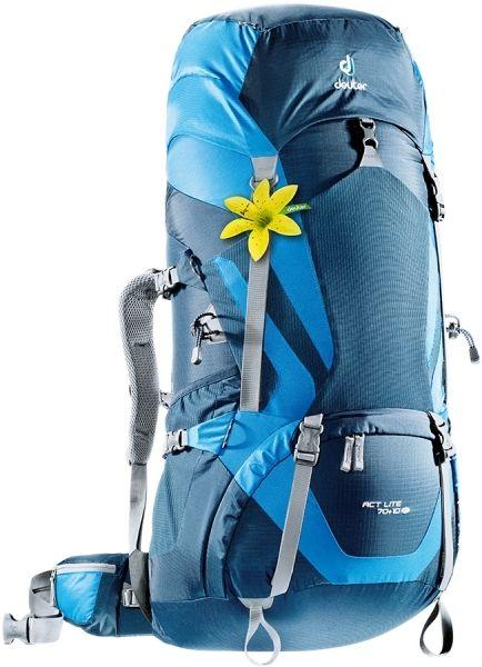 Рюкзак Deuter ACT Lite 70+10 SL, цвет: голубой, темно-синий, 70 л рюкзак deuter act trail 22 sl petrol mint 3440015 3217