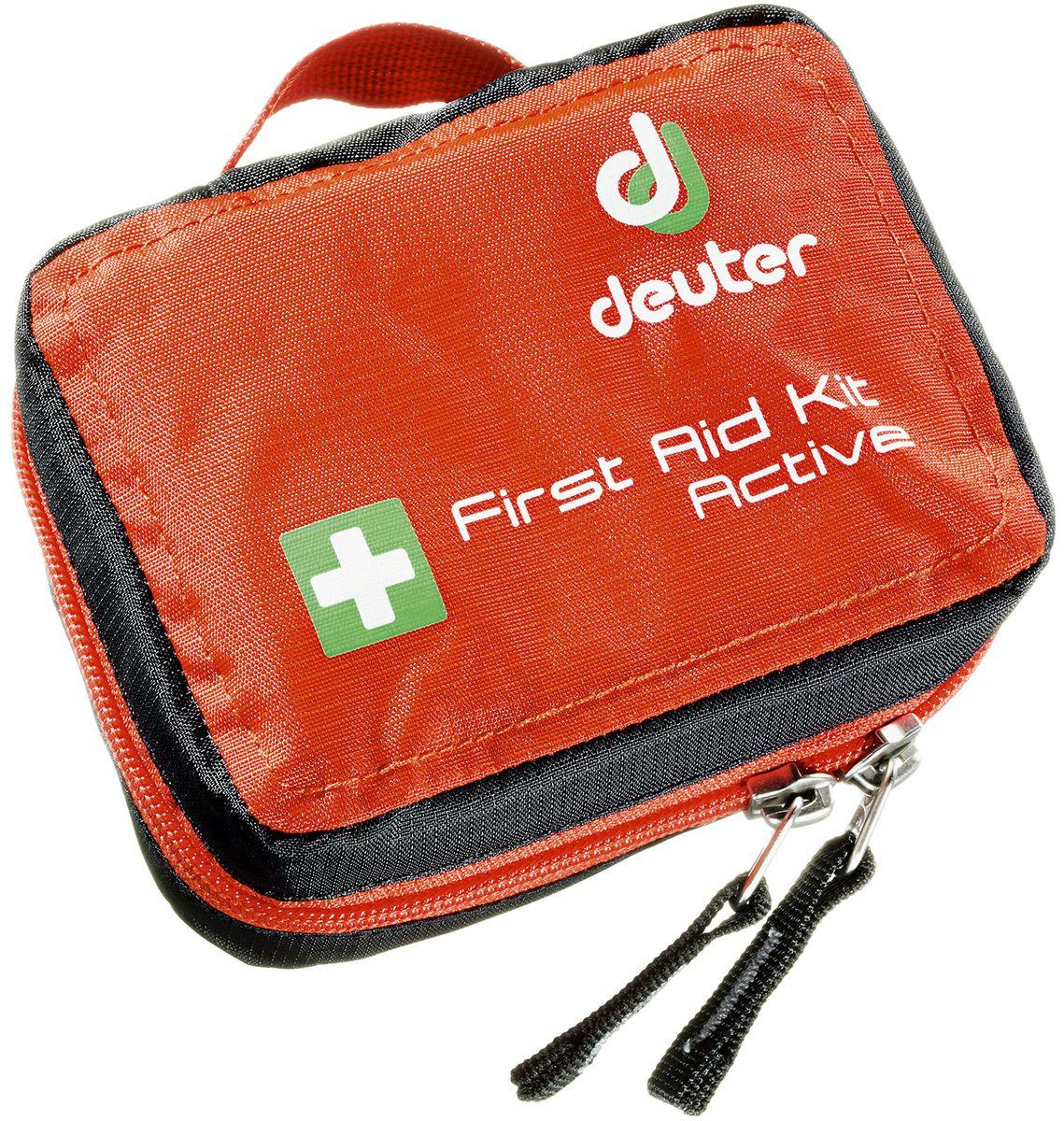 Аптечка Deuter First Aid Kit Active, цвет: красный4943016_9002Очень удобная аптечка с круговой молнией и быстрым доступом к содержимому.- быстрый доступ ко всему содержимому благодаря круговой молнии;- инструкции по оказанию первой помощи;- петля для набедренного ремня;- ручка для переноски;- SOS лейбл.- Материал: Ripstop-Nylon.- Вес: 160 грамм.- Размеры: В x Ш x Г: 9 x 12 x 5 см.