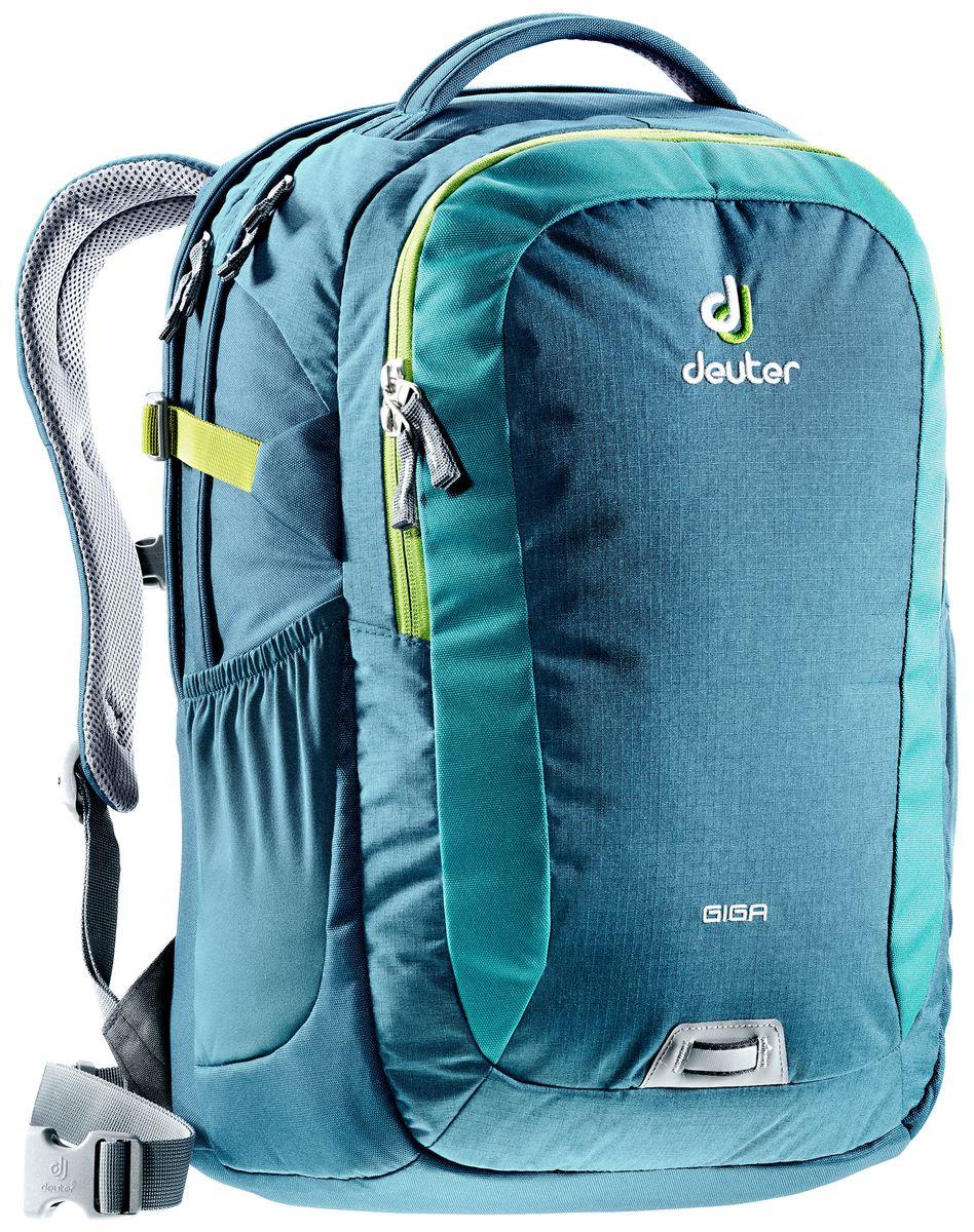 Рюкзак Deuter Daypacks Giga, цвет: бирюзовый, темно-синий, 28 л рюкзак deuter daypacks giga pro midnight dresscode