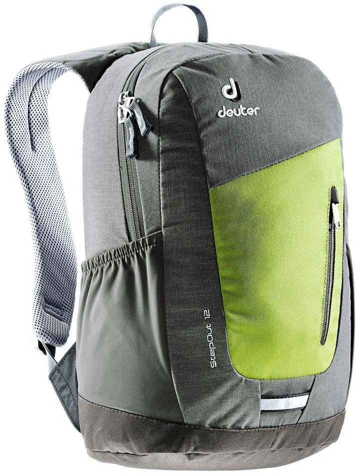 Рюкзак Deuter Daypacks StepOut 12, цвет: оливковый, серый, 12 л рюкзак deuter daypacks giga aubergine check б р uni
