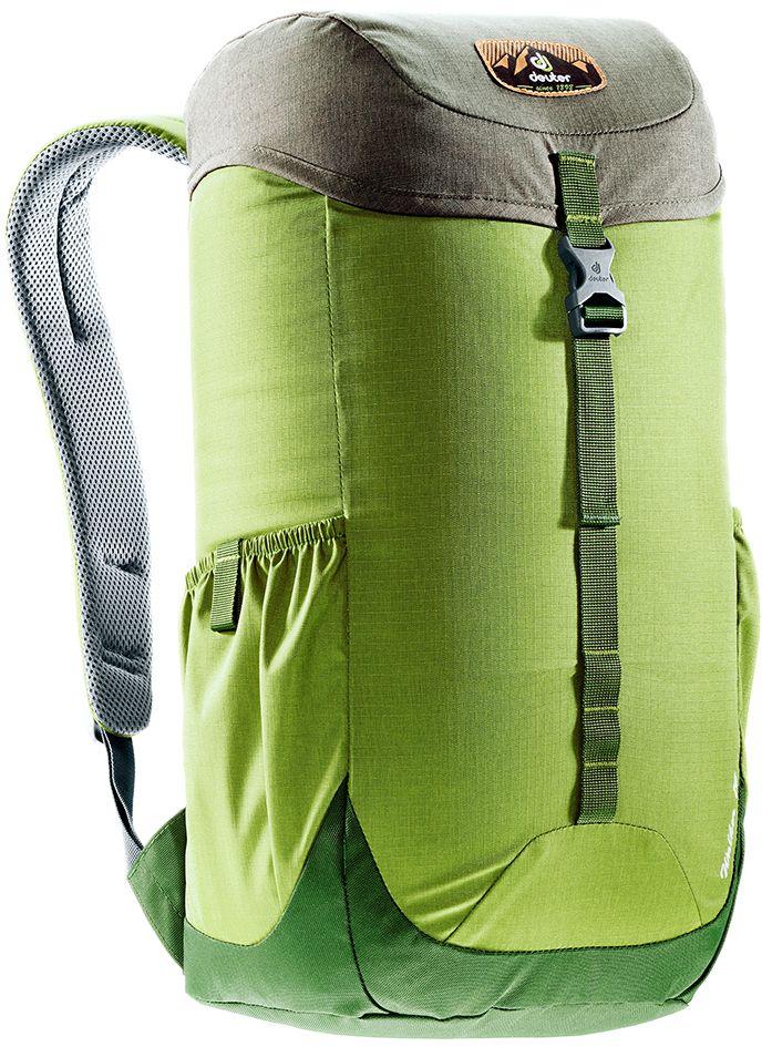 Рюкзак Deuter Walker 16, цвет: оливковый, хаки, 16 л332515-2800Компактный, спортивный рюкзак идеально подходит для людей, предпочитающих пешие прогулки. Система подвески AirComfort с великолепной вентиляцией и легкие материалы в конструкции делают рюкзак настолько удобными, что вы забудете, что у вас за спиной рюкзак.Особенности: Спинка Airstripes для великолепной вентиляции; Очень комфортные, эргономичные, с мягкими краями плечевые лямки; Отделение для документов; Карабин для ключей; Боковые карманы с эластичным, растягивающимся краем; Внутренний карман для ценных вещей (Walker 16 & 20). Размер рюкзака: 46 х 26 х 19.