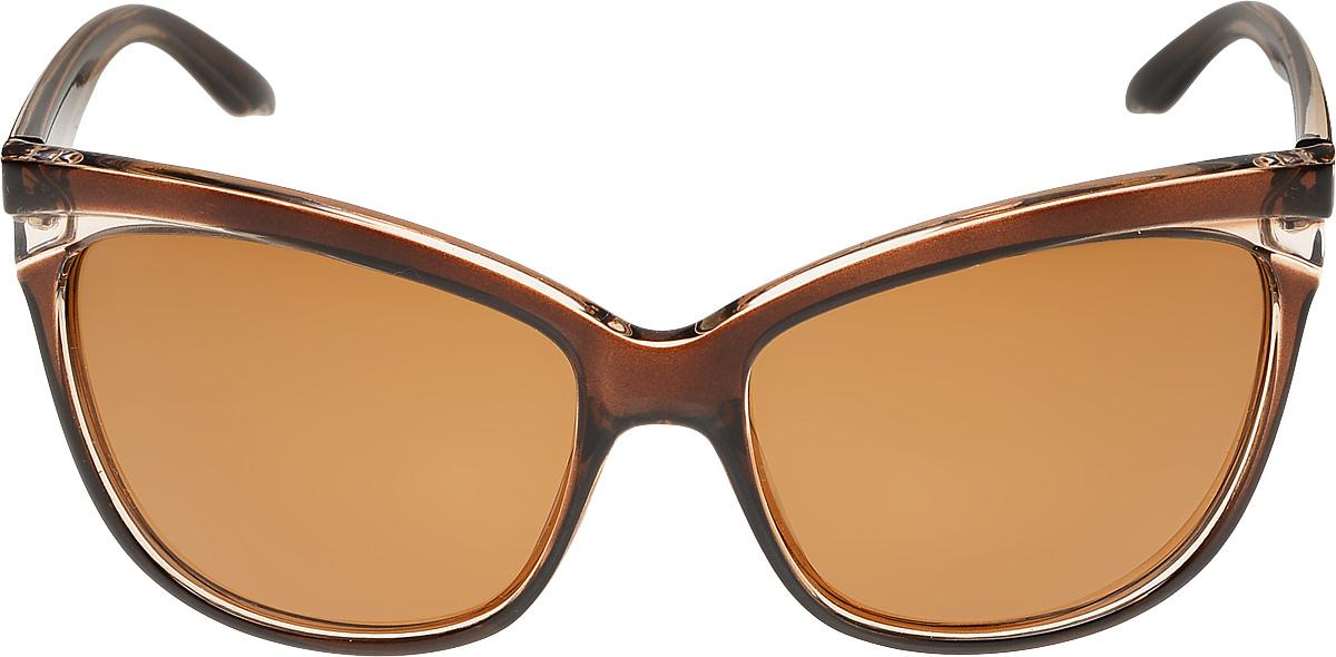 Очки солнцезащитные женские Vittorio Richi, цвет: коричневый. ОС051238c807-90/17fBM8434-58AEОчки солнцезащитные Vittorio Richi это знаменитое итальянское качество и традиционно изысканный дизайн.