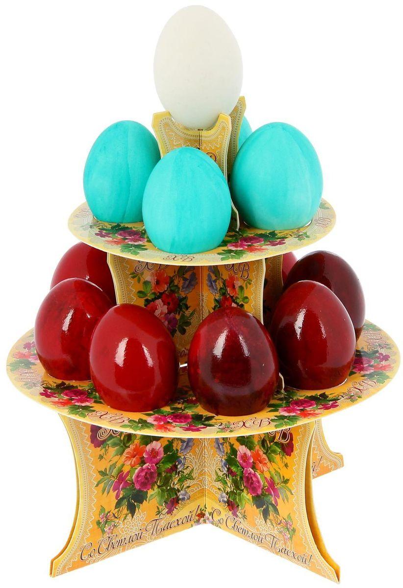 Подставка пасхальная ХВ. Цветы, на 12 яиц, 19,8 х 19,8 см. 1211810115510От хорошей кухонной утвари зависит половина успеха вкусного блюда. Чтобы еда была вкусной, важно ее правильно приготовить и сервировать. Подставка пасхальная со скретч-слоем на 12 яиц поможет вам в этом деле.