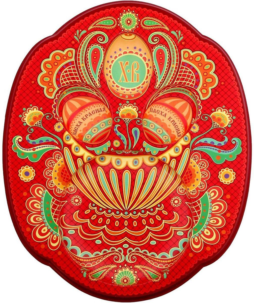 Подставка пасхальная Русские Узоры, под 3 яйца и кулич, 21 х 25,6 см. 1253099VT-1520(SR)Пасхальная подставка для 3 яйц и кулича изготовлена из качественного пластика, в центре имеется яркая вставка. Аксессуар станет достойным украшением праздничного стола, создаст радостное настроение и наполнит пространство вашего дома благостной энергией на весь год вперёд.Подставка будет ценным памятным подарком для родных, друзей и коллег.Радости, добра и света вам и вашим близким!