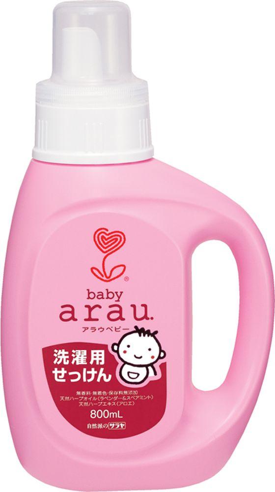 Arau Baby Жидкость для стирки детской одежды 800 мл391602Жидкость для стирки создана на основе 100% натуральных компонентов – натурального мыла, полученного из кокосового масла, с добавлением экстрактов лаванды и мяты. Благодаря уникальной натуральной формуле жидкость для стирки эффективно удаляет загрязнения, делает белье мягким и приятным на ощупь. Не содержит синтетических ПАВов, ароматизаторов, красителей и консервантов.Подходит для всех типов тканей.Товар сертифицирован.