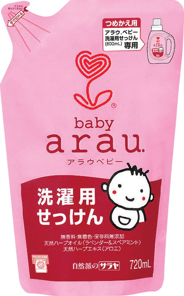 Arau Baby Жидкость для стирки детской одежды картридж 720 млYASH62711Жидкость для стирки создана на основе 100% натуральных компонентов – натурального мыла, полученного из кокосового масла, с добавлением экстрактов лаванды и мяты. Благодаря уникальной натуральной формуле жидкость для стирки эффективно удаляет загрязнения, делает белье мягким и приятным на ощупь.Не содержит синтетических ПАВов, ароматизаторов, красителей и консервантов.Подходит для всех типов тканей.Товар сертифицирован.