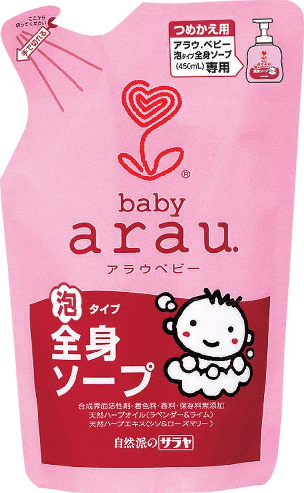 Arau Baby Пенка для душа для купания малышей 400 мл  недорого