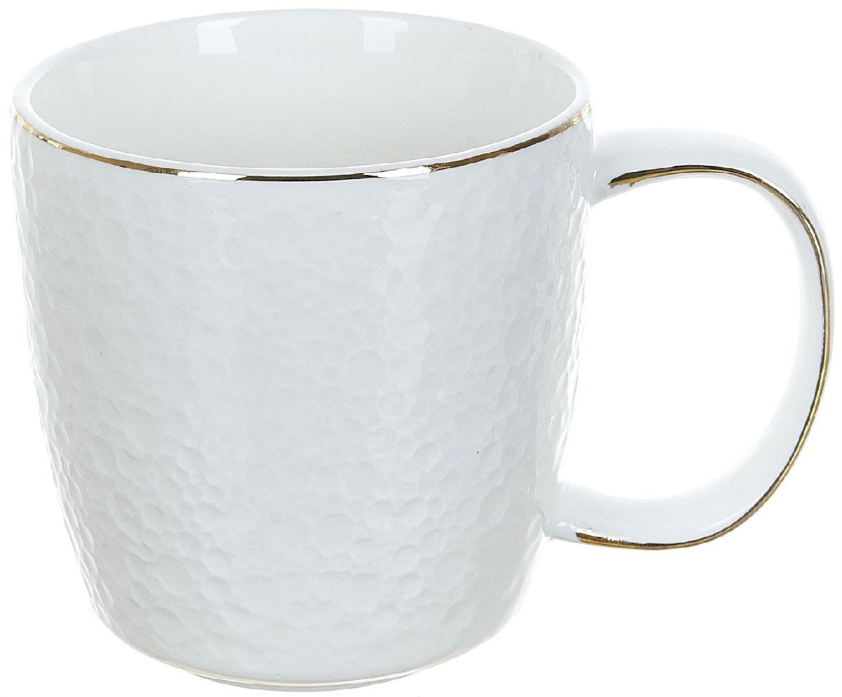 Кружка BHP Морская пена, 320 мл391602Оригинальная кружка Best Home Porcelain, выполненная из высококачественного фарфора, сочетает в себе простой, утонченный дизайн с максимальной функциональностью. Можно использовать в посудомоечной машине.