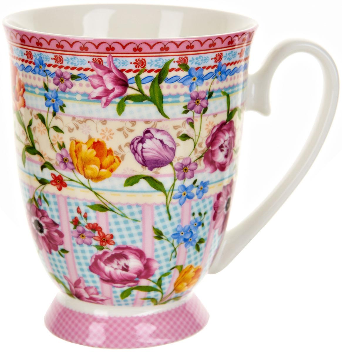 Кружка Polystar Разноцветные тюльпаны, 360 мл391602Оригинальная кружка Polystar, выполненная из фарфора, сочетает в себе изысканный дизайн с максимальной функциональностью.Красочность оформления кружки придется по вкусу и ценителям классики, и тем, кто предпочитает утонченность и изысканность. Можно использовать в микроволной печи и мыть в посудомоечной машине.Объем: 360 мл.