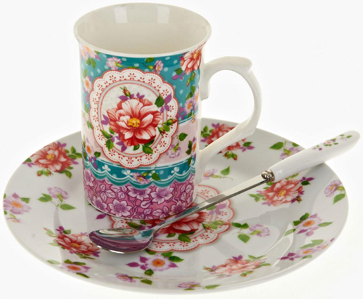 Чайная пара Nouvelle De France Цветочные кружева, с ложкой, 3 предметаFS-91909Оригинальная фарфоровая кружка Nouvelle с ложкой и десертная тарелка, выполнены из высококачественной керамики, сочетают в себе изысканный дизайн с максимальной функциональностью.Красочность оформления кружки придется по вкусу и ценителям классики, и тем, кто предпочитает утонченность и изысканность.В комплект входит кружка, ложка и десертная тарелка. Можно использовать в ПММ.