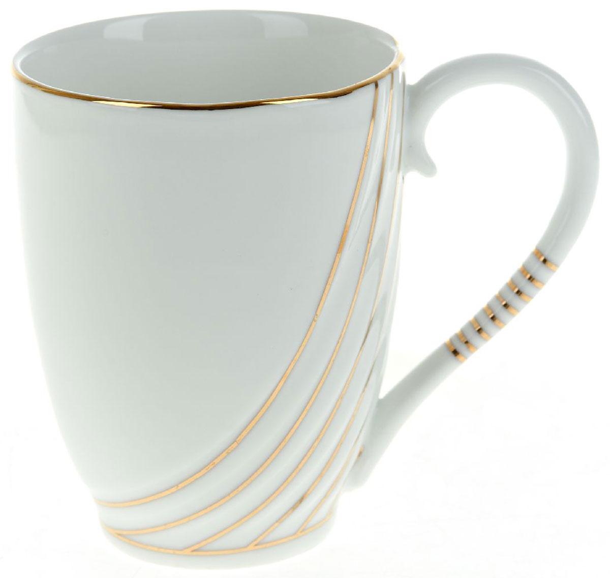Кружка BHP Грация, 320 мл391602Оригинальная кружка Best Home Porcelain, выполненная из высококачественного фарфора, сочетает в себе простой, утонченный дизайн с максимальной функциональностью. Оригинальность оформления придется по вкусу тем, кто ценит индивидуальность.Можно использовать в посудомоечной машине.