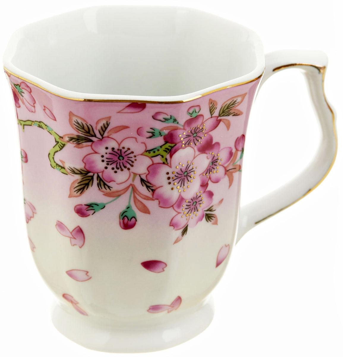 Кружка BHP Яблоневый цвет, 350 мл115510Оригинальная кружка Best Home Porcelain, выполненная из высококачественного фарфора, сочетает в себе простой, утонченный дизайн с максимальной функциональностью. Можно использовать в посудомоечной машине.