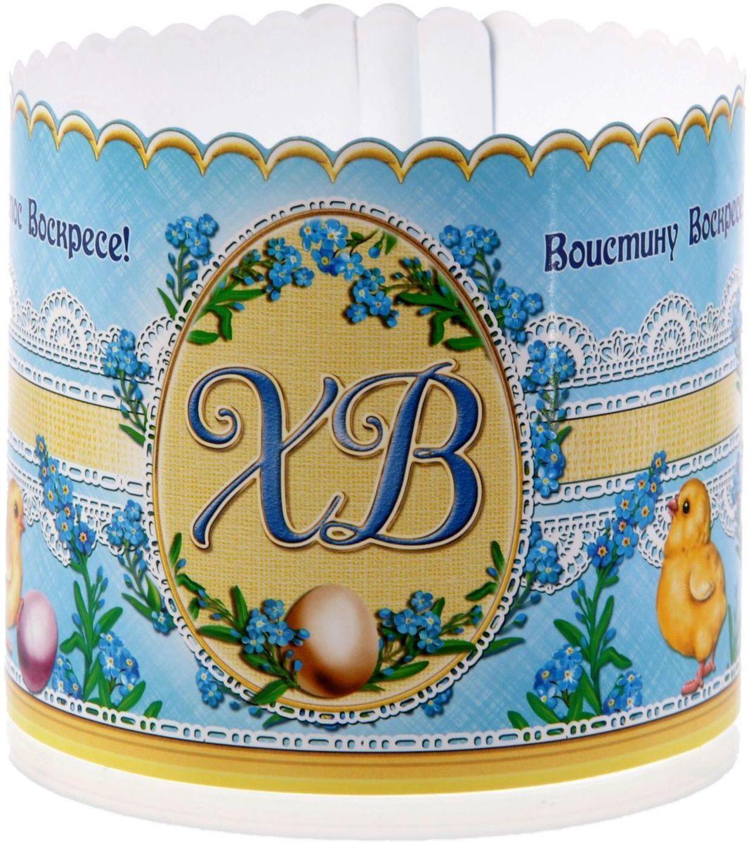 Ободок для пасхального кулича ХВ. Пасхальные яйца, 41,6 х 10 см. 1546266115510Ободок для пасхального кулича — отличное дополнение для торжества. Аксессуар украсит праздничный стол и защитит угощение от маленьких ручек, которые так и норовят отщипнуть кусочек от угощения. Размер ободка регулируется, поэтому он подходит для больших и маленьких куличей.