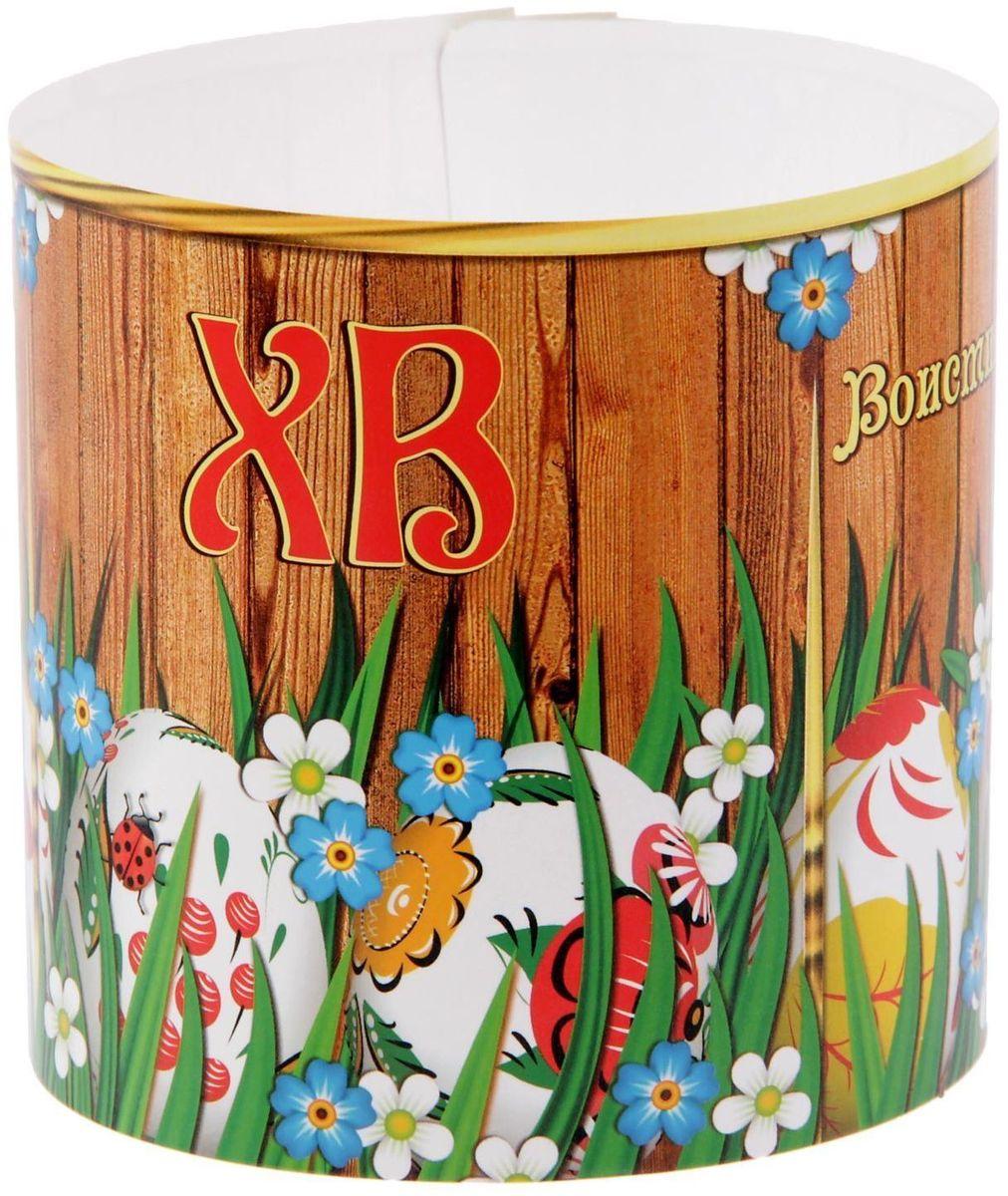 Ободок для пасхального кулича ХВ. Разноцветные яйца, 32,2 х 9 см1546272Ободок для пасхального кулича - отличное дополнение для торжества. Аксессуар украсит праздничный стол и защитит угощение от маленьких ручек, которые так и норовят отщипнуть кусочек от угощения. Размер ободка регулируется, поэтому он подходит для больших и маленьких куличей.