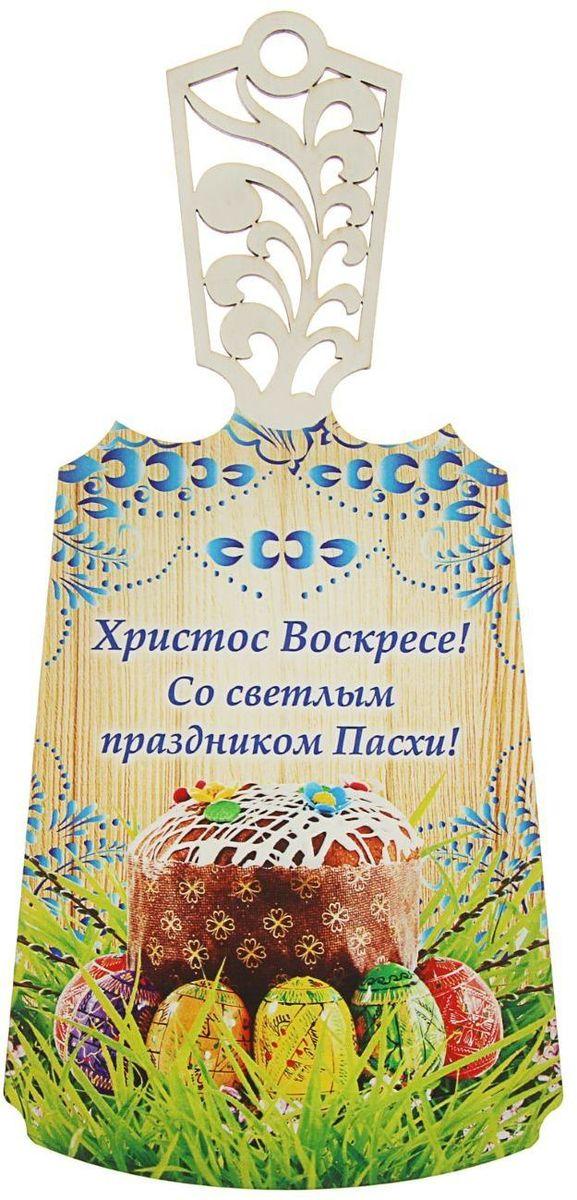 Доска разделочная Гжель. Пасха, с резной ручкой68/5/4От качества посуды зависит не только вкус еды, но и здоровье человека. Данный товар соответствует российским стандартам качества. Любой хозяйке будет приятно держать его в руках.