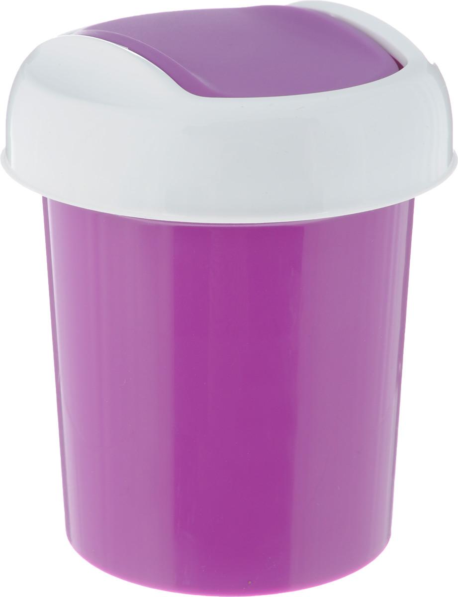 Контейнер для мусора Svip Ориджинал, настольный, цвет: аметист, 1 л787502Контейнер для мусора Svip Ориджинал изготовлен из высококачественного прочного пластика. Такой аксессуар очень удобен в использовании как дома, так и в офисе. Контейнер снабжен удобной крышкой с подвижной перегородкой. Стильный дизайн сделает его прекрасным украшением интерьера.Можно мыть в посудомоечной машине.Размер контейнера: 11 х 11 х 15 см,Диаметр крышки: 12 см, Объем контейнера: 1 л.