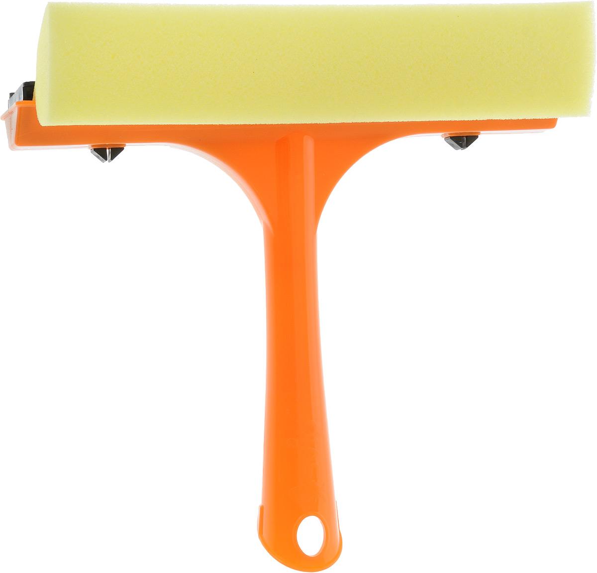 Стеклоочиститель Svip, с водосгоном, цвет: оранжевый, желтый, длина 20 смМ 5177Стеклоочиститель Svip, оснащенный удобной пластиковой ручкой, станет незаменимымпомощником при уборке. Стеклоочиститель с одной стороны имеет поролоновую губку для тщательного отмывания, а с другойрезиновую кромку, с помощью которой легко собрать всю влагу, оставив стекло зеркально чистым и без разводов.Длина ручки: 15,5 см, Ширина рабочей поверхности: 21,3см.