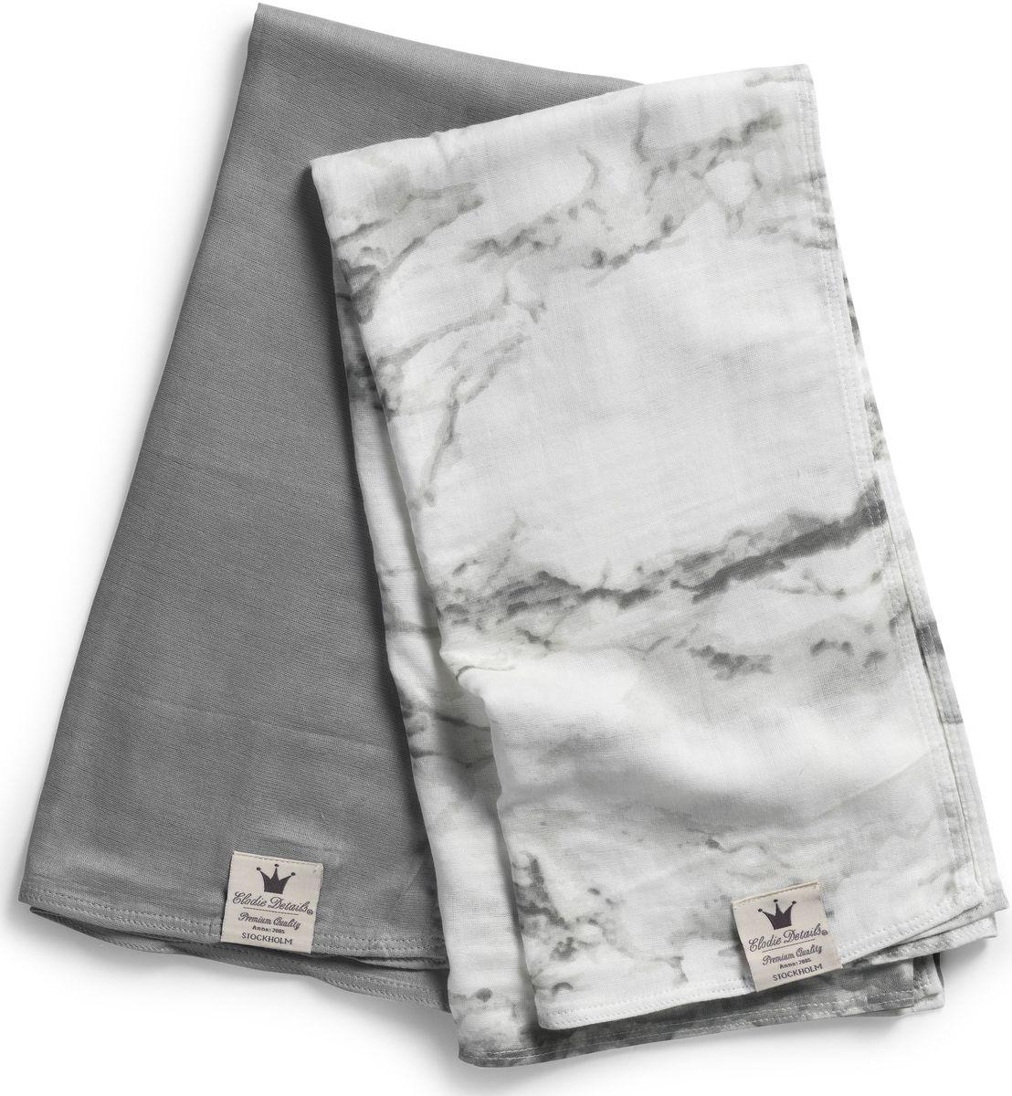 Elodie Details Плед детский Marble Grey 80 см х 80 см103311Плед Elodie Details Marble Grey - невесомые муслиновые пеленки незаменимы в теплое время года. Легкая двухслойная ткань из бамбукового волокна прекрасно пропускает воздух, позволяя коже ребенка дышать, и впитывает лишнюю влагу. Пеленки можно использовать в качестве легкого летнего пледа - дома и на прогулке, а также накрывать коляску от прямых солнечных лучей. Коллекцию Marble Grey отличают благородные серые цвета: в однотонном варианте и в виде необычного мраморного принта. Серый цвет придает изысканность и утонченность любому образу, он отлично сочетается с яркими аксессуарами и позволяет экспериментировать, создавая смелые модные ансамбли. А кроме прочего, серый цвет универсален и подходит как мальчику, так и девочке.