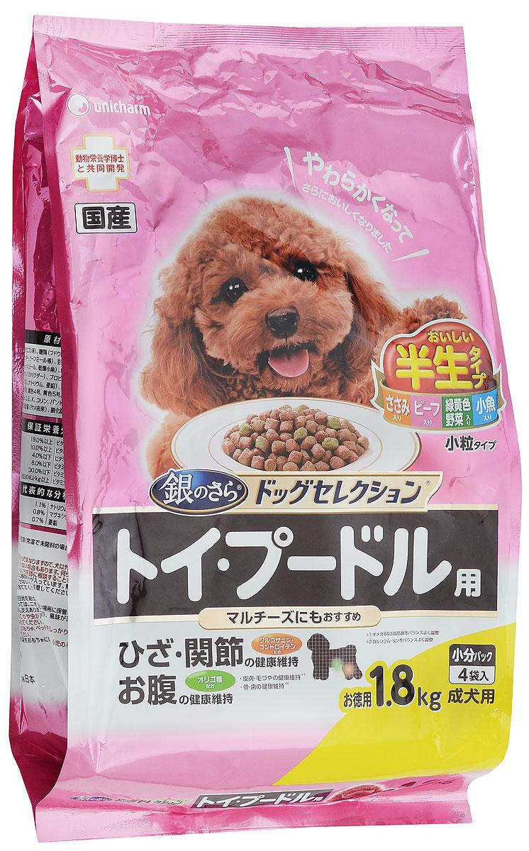 Корм сухой Unicharm Gaines Dog Selection для собак породы пудель, мальтийская болонка, 1,8 кг0120710Сбалансированный мягкий корм Unicharm Gaines Dog Selection для пуделя и мальтийской болонки непременно понравится даже самым привередливым представителям этих пород и удовлетворит самый взыскательный вкус. Ароматные маленькие гранулы содержат все необходимые витамины и минералы для поддержания здоровья вашего питомца. Сочетание ценных жирных кислот Омега 6 и 3 способствует росту здоровой красивой шерсти и предотвращает развитие заболеваний кожи. Витамины С и Е способствуют укреплению естественных защитных механизмов глаз собаки. Глюкозамин и хондроитин защищают хрящи и суставы животного, способствуют нормальному функционированию опорно-двигательного аппарата.Товар сертифицирован.