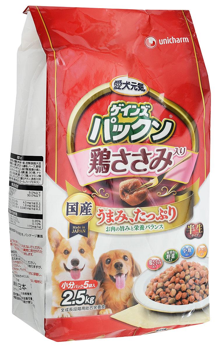 Корм сухой Unicharm Gaines Piranha. Нормализация пищеварения для собак, с курицей, овощами, рыбой и сыром, 2,5 кг0120710Полнорационный мягкий корм Unicharm Gaines Piranha. Нормализация пищеварения - это хорошо сбалансированное питание для нормализации пищеварения взрослых собак. Ароматные маленькие гранулы с бесподобным вкусом курицы, овощей, рыбы и сыра содержат все необходимые питательные вещества и микроэлементы для здоровья вашего четвероногого друга. Входящие в состав олигосахариды стимулируют рост полезных бифидобактерий в кишечнике и нормализуют пищеварение собаки. Гармоничное сочетание минералов и витаминов способствуют поддержанию вашего питомца в отличной физической форме.Товар сертифицирован.