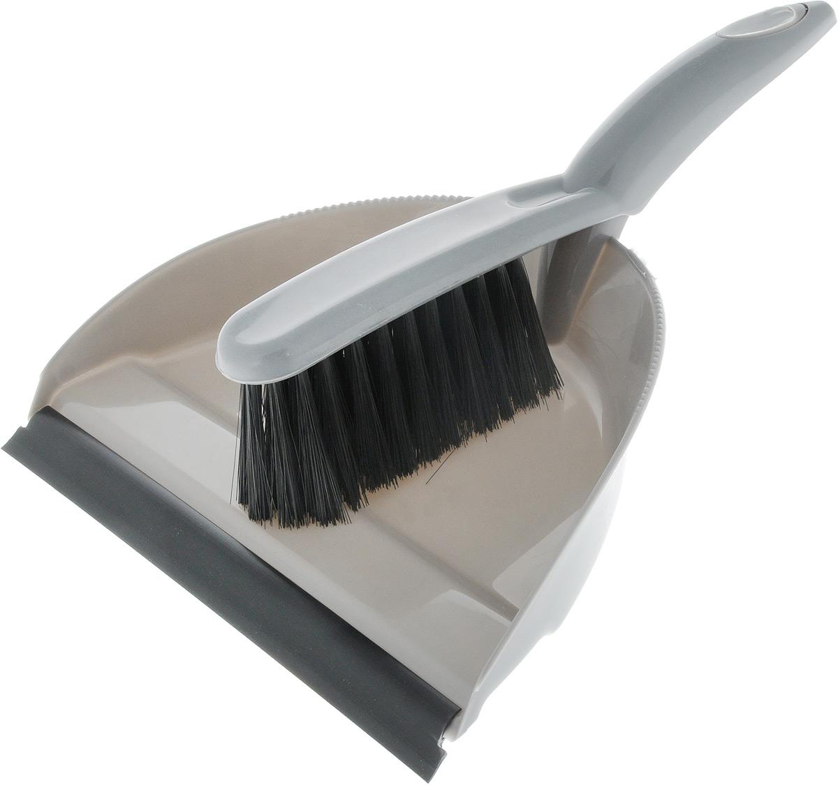 Набор для уборки Svip Клио, с кромкой, цвет: серый, 2 предмета10503Набор для уборки Svip Клио, состоит из щетки-сметки и совка, выполненных из полипропилена.Он станет незаменимым помощником в деле удаления пыли и мусора с различных поверхностей.Ворс щетки достаточно длинный, что позволяет собирать даже крупный мусор.Края совка оснащены зубчиками для чистки щетки после ее использования. Совок имеет резиновую кромку,благодаря которой удобнее собирать мусор. Ручка совка позволяет прикреплять его к рукоятке щетки. На рукояти изделий имеется специальное отверстие для подвешивания. Длина щетки-сметки: 26 см. Длина ворса: 5 см. Размер рабочей поверхности совка: 15 х 24 см.Размер совка (с учетом ручки): 30,2 х 24 х 5 см.