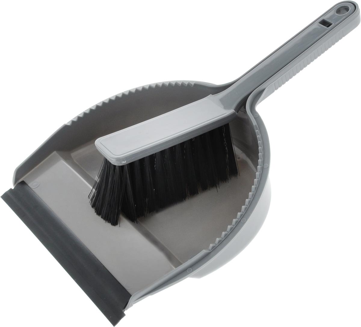 Набор для уборки Svip Лаура, с кромкой, цвет: серебряный, 2 предметаDW90Набор для уборки Svip Клио, состоит из щетки-сметки и совка, выполненных из полипропилена.Он станет незаменимым помощником в деле удаления пыли и мусора с различных поверхностей.Ворс щетки достаточно длинный, что позволяет собирать даже крупный мусор.Края совка оснащены зубчиками для чистки щетки после ее использования. Совок имеет резиновую кромку,благодаря которой удобнее собирать мусор. Ручка совка позволяет прикреплять его к рукоятке щетки. На рукояти изделий имеется специальное отверстие для подвешивания. Длина щетки-сметки: 25,2 см. Длина ворса: 5,5 см. Размер рабочей поверхности совка: 18,5 х 19 см.Размер совка (с учетом ручки): 33 х 19 х 6 см.