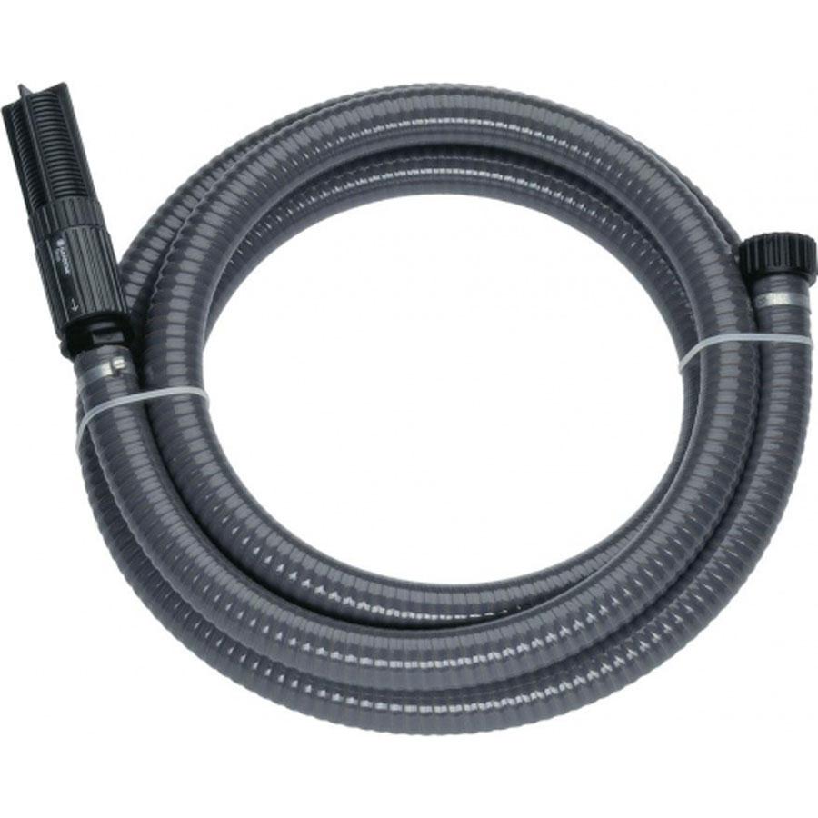 Шланг Gardena, заборный, с фильтром, диаметр 25 мм (1), длина 3,5 м18143-29.000.00Заборный шланг Gardena - это готовый к подключению вакуумоустойчивый спиральный армированный шланг для подсоединения к насосу напрямую. С фильтром для защиты насоса от повреждения вследствие попадания загрязнений, а также с обратным клапаном, который сокращает время всасывания насоса при повторном включении. Длина шланга: 3,5 м.Диаметр: 25 мм (1 дюйм). Подходит для насосов с наружной резьбой 33,3 мм (G 1).