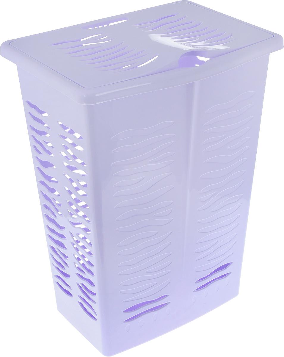 Корзина для белья BranQ Aqua, цвет: лаванда, 42 лPANTERA SPX-2RSКорзина для белья BranQ Aqua изготовлена из прочного полипропилена и оформлена перфорированными отверстиями, благодаря которым обеспечивается естественная вентиляция. Корзина оснащена крышкой и ручкой для переноски. На крышке имеется выемка для удобного открывания крышки. Такая корзина для белья прекрасно впишется в интерьер ванной комнаты..Размер корзины: 30 х 39,5 х 53 см, Объем: 42 л.