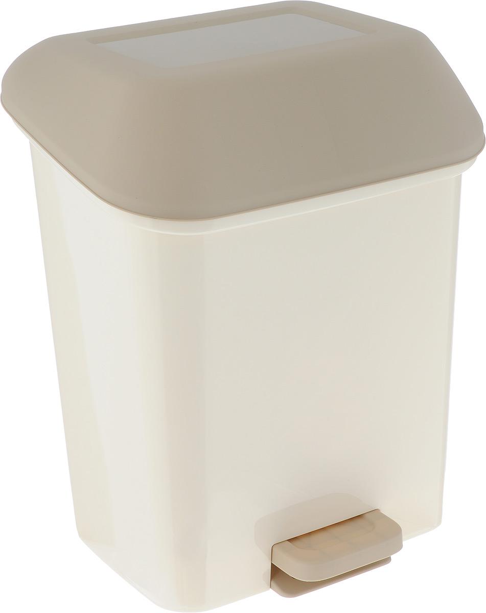 Контейнер для мусора Svip Квадра, с педалью, цвет: кофейный, 15 л787502Мусорный контейнер Svip Квадра поможет поддержать порядок и чистоту на кухне, в туалетнойкомнате или в офисе. Изделие, выполненное из полипропилена, не боится ударов и долгих летиспользования. Практичный контейнер для мусора оснащен удобной педалью, с помощью которой можно открытькрышку. Закрывается крышка практически бесшумно,плотно прилегает, предотвращая распространение запаха. Эстетика изделия превращает необходимый предмет кухни или туалетной комнаты в стильноедополнение к интерьеру. Его легкость и прочность оптимально решают проблему сбора мусора.
