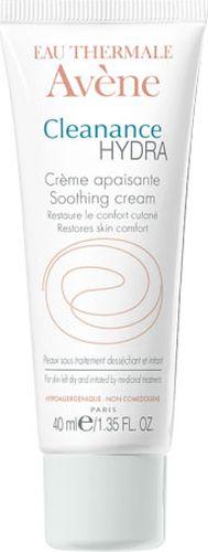 Avene Успокаивающий крем Cleananse Hydra, 40 мл10057499663Успокаивающий компенсирующий крем Клинанс Гидра питает,увлажняет, восстанавливает комфортчувствительной коже, раздраженной и пересушенной в ходе лечения акне.Свойства: • Бисаболол снимает покраснения на коже• Термальная вода Avene обеспечивает успокаивающее действие, снимает раздражение кожи• Увлажняющие и питательные компоненты восстанавливают поврежденный гидролипидный слой