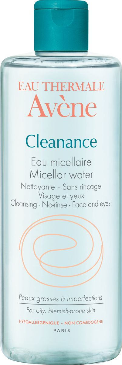 Avene Мицеллярная вода Cleananse, 400 млC48484Бережное очищение проблемной кожи, склонной к жирному блеску. Устранение загрязнений, снятие макияжа с лица и глаз.Свойства: • Мицеллярная вода Клинанс мягко удаляет загрязнения и макияж (в том числе водостойкий), а за счет Монолаурина * помогает контролировать выработку кожного сала.• Кожа становится чистой, свежей и обновленной • Высокое содержание Термальной воды Avene обеспечивает успокаивающее и снимающее раздражение кожи действие