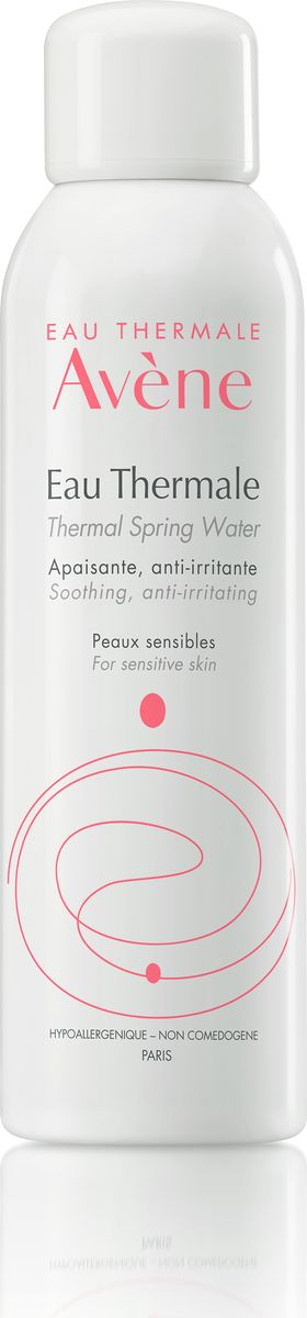 Avene Термальная вода Eau Thermale 150 млFS-36054Термальная вода Avene суникальным неизменным составом успокаивает кожу и снимает её раздражение. Данные свойства подтверждены многочисленными научными исследованиями. Протестированная дерматологами, Термальная вода Avene является ключевым средством для ухода за чувствительной, гиперчувствительной и аллергенной кожей.Основное средство для ухода за чувствительной, гиперчувствительной, аллергичной и раздраженной кожей. Когда использовать:• Солнечные ожоги • сухость кожи • покраснение лица • раздражение под подгузниками • раздражения различного генеза • после бритья • после эпиляции • в завершение демакияжа • после физических упражнений • летом • в путешествииСвойства:- Богатый микроэлементный состав-Низкий уровень минерализации-Бактериологическая чистота-Разливается в уникальной стерильной среде непосредственно на источнике в Avene-les-Bains