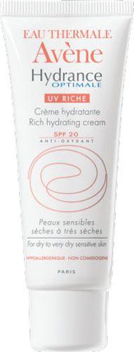 Avene Крем увлажняющий защищающий Hydrance ОПТИМАЛЬ UV20 РИШ для сухой кожи лица 40 млC20629Ежедневное увлажнение для сухой и очень сухой обезвоженной чувствительной кожи.Свойства:основываясь на результатах исследованийидеального увлажнения глаза, Дерматологические лаборатории Avene разработали формулу интенсивного и длительного увлажнения кожи*. Крем обогащен Термальной водой Avene.Результат: мгновенное и интенсивное увлажнение, оптимальный комфорт и восстановление кожи. Гидранс Оптималь UV 20Риш - увлажняюшийкрем с насыщенной текстурой, обеспечивает коже эластичность и бархатистость. * Верхние слои кожи.