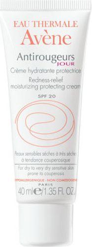 Avene Крем от покраснений Anti-rougeurs для лица 40 млC04375Для сухой и очень сухой кожи с локальными и/или диффузными покраснениями, чувствительной к перепадам высоких и низких температур. Свойства: Дневной кремАнтиружер увлажняет* и защищает кожу в течение дня, предотвращая и уменьшая покраснения кожи. • Экстракт рускуса улучшает микроциркуляцию кожи, за счет чего уменьшаются диффузные покраснения кожи и снижается вероятность появления новых покраснений. • Обогащенный Термальной водой Avene с успокаивающими и снимающими раздражение свойствами, крем быстро успокаивает кожу, снимая раздражение и ощущение дискомфорта.• Наличие солнцезащитного фактора SPF 20 позволяет уменьшить ежедневное агрессивное воздействие лучей UVA и UVB, повреждающих капилляры кожи. • Крем с жирной, насыщенной текстурой быстро впитывается, увлажняя, смягчая и возвращая коже комфорт.*Увлажнение верхних слоев кожи.
