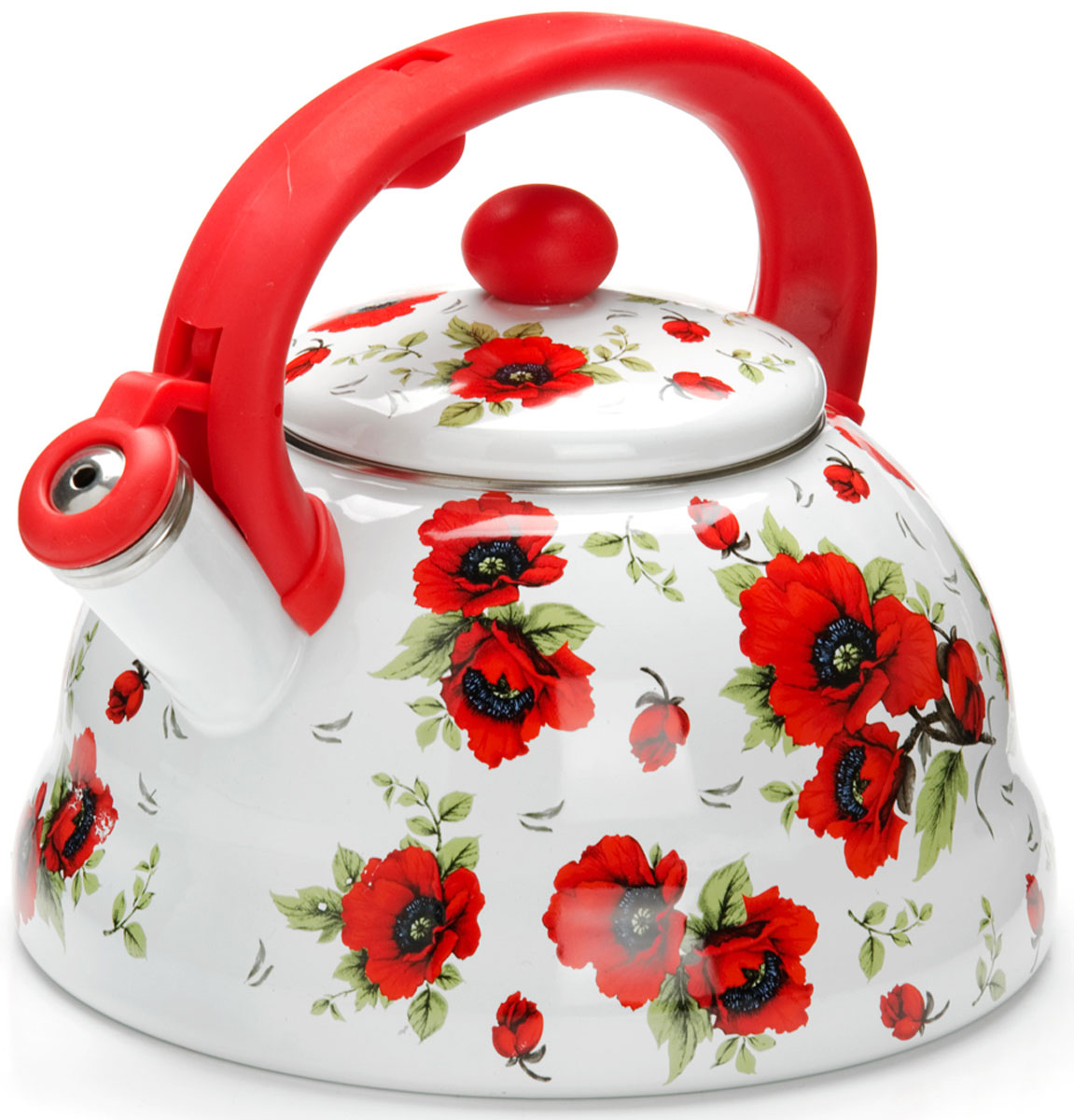 Чайник Mayer & Boch Цветы, со свистком, 3 л. 26253 mayer