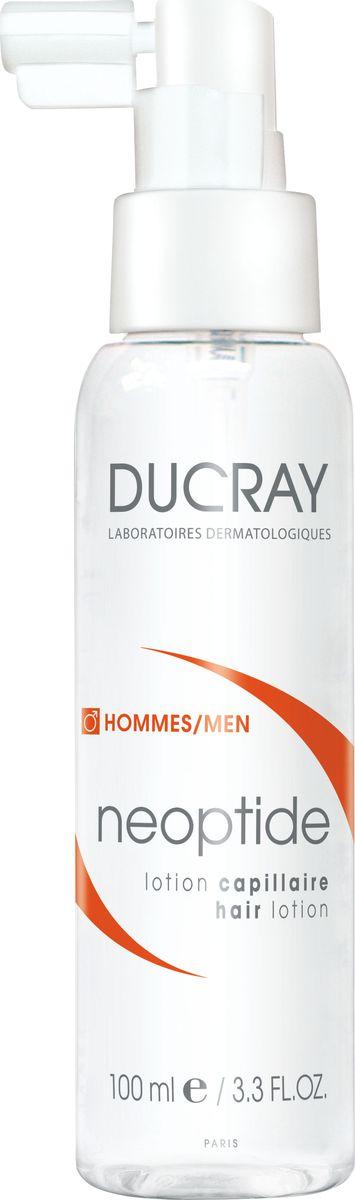 Ducray Лосьон Neoptide от выпадения волос у мужчин, 100 млC51660В большинстве случаев хроническое выпадение волос у мужчин обусловлено сочетанием гормонального и наследственного факторов. Прогрессирующая потеря волос сопровождается уменьшениемдлительности цикла развития волоса и изменениями в плотности волосяного стержня. Наступление периода потери волос может варьировать в зависимости от возраста. Применение специализированных средств против выпадения волос помогает замедлить данный процесс.Лосьон НЕОПТИД содержит комбинацию запатентованных активных компонентов, действие которых направлено против механизмов хронического выпадения волос у мужчин:• ПЕПТИДОКСИЛ-4® стимулирует микроциркуляцию волосистой части кожи головы и способствует доставке всех компонентов, необходимых для протекания клеточного метаболизма. • МОНОЛАУРИН способствует снижению активности ключевого фермента, играющего непосредственную роль в процессе выпадения волос у мужчин*.• Запатентованнная комбинация ПЕПТИДОКСИЛ-4® и МОНОЛАУРИНА, разработаннаядерматологическими лабораториями DUCRAY, способствует продлению роста волос и участвует в регуляции сигнала, играющего ключевую роль в обновлении клеток волосяного фолликула.Таким образом, оказывается стимулирующее действие на рост волос, уменьшается выпадение волос и увеличивается их объем. Процесс хронического выпадения волос замедляется**.Благодаря своей легкой текстуре, лосьон от выпадения волос Неоптид легко впитывается и не оставляет жирного блеска. Лосьон имеет высокую переносимость и может использоваться даже у мужчин с чувствительной кожей головы.*Активные ингредиенты протестированы in vitro.** Исследование с 44 участниками, после 3х месяцев применения продукта (1 раз в день). Фототрихограмма.