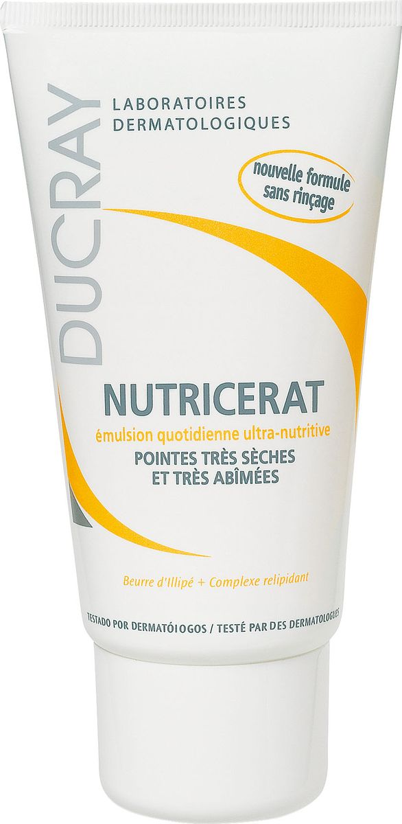 Ducray Сверхпитательная эмульсия для волос Nutricerat, 100 млFS-00897Сверхпитательная эмульсия Nutricerat (Нутрицерат) специально разработана для восстановления сухих волос, особенно сухих кончиков волос. Насыщенное питательное масло Иллипа и восстанавливающий комплекс в составе эмульсии разглаживают и защищают поврежденные кончики волос, облегчая расчесывание и укладку. Не требует смывания. Не делает волосы липкими. Подходит для ежедневного ухода.