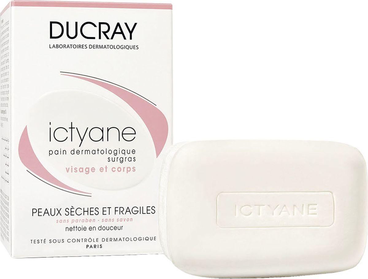 Ducray Мягкое мыло Ictyane для сухой кожи 200грDCGP031Насыщенное дерматологическое мыло ICTYANE (Иктиан) не содержит омыляющих компонентов. В состав мыла входят очищающие вещества с высокой переносимостью, разработанные специально для сухой и хрупкой кожи. Активные компоненты, ПЕТРОЛАТ и ГЛИЦЕРИН, входящие в состав мыла быстро смягчают и восстанавливают сухую истонченную кожу, возвращая коже ощущение комфорта. Содержит до 30% увлажняющих веществ.
