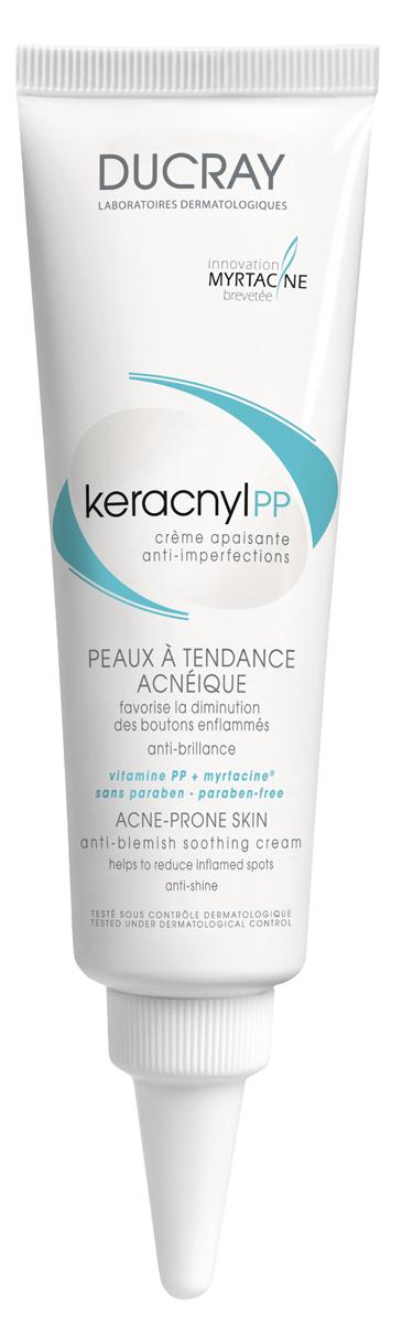 Ducray PP Успокаивающий кремKeracnyl против дефектов кожи, склонной к появлению акне 30 млC42238Средняя степень акне, воспалительные элементы.Успокаивающий крем Keracnyl РР (Керакнил ПП), специально разработан для кожи с тенденцией к акне, устраняет воспалительные элементы:• миртацин® , активный оздоравливающий компонент сокращает появление акне и несовершенств• витамин РР успокаивает раздраженную кожу и устраняет дефекты кожи• экстракт сабаля уменьшает выделение кожного жира, матируя кожуАктивные увлажняющие ингредиенты делают кожу мягкой и приятной на ощупь. Нежирная текстура крема идеальна в качестве базы под макияж. Гипоаллергенный*, некомедогенный*Переносимость крема была протестирована на коже с тенденцией к акне при лечении различными медикаментозными препаратами.