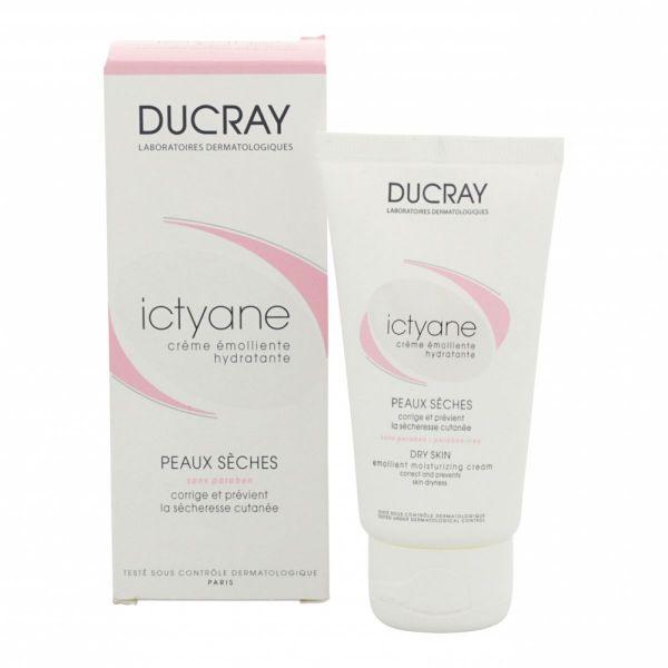 Ducray Крем Ictyane для сухой кожи, 50 млC18612Смягчающий увлажняющий крем для сухой кожи ICTYANE (Иктиан) уменьшает сухость кожи и предотвращает ее повторное появление, помогает сухой или обезвоженной коже обрести мягкость, упругость и комфорт.Уникальная формула Иктиан гарантирует эффективность и удобство примененияпри сухой и обезвоженной кожи: ВАЗЕЛИН образует невидимую защитную пленку на поверхности кожи, а ГЛИЦЕРИН, обладающий высокой увлажняющейспособностью, удерживает воду в верхних слоях эпидермиса, возвращая коже тонус и мягкость. Благодаря легкой текстуре с приятным запахом крем ИКТИАН легко наносится, быстро впитывается и обеспечивает коже мгновенное чувство комфорта.