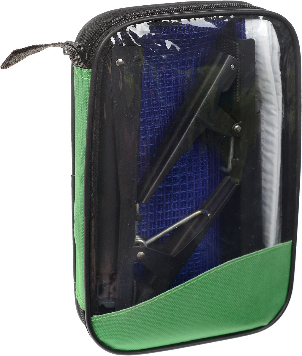 Сетка для настольного тенниса Start Up, с креплениями, цвет: синий, белый, черный, длина 185 смAIRWHEEL M3-162.8Сетка для настольного тенниса Start Up выполнена из прочного нейлона. В комплекте два металлических крепления. Натяжение сетки можно регулировать. Ширина сетки: 14 см.