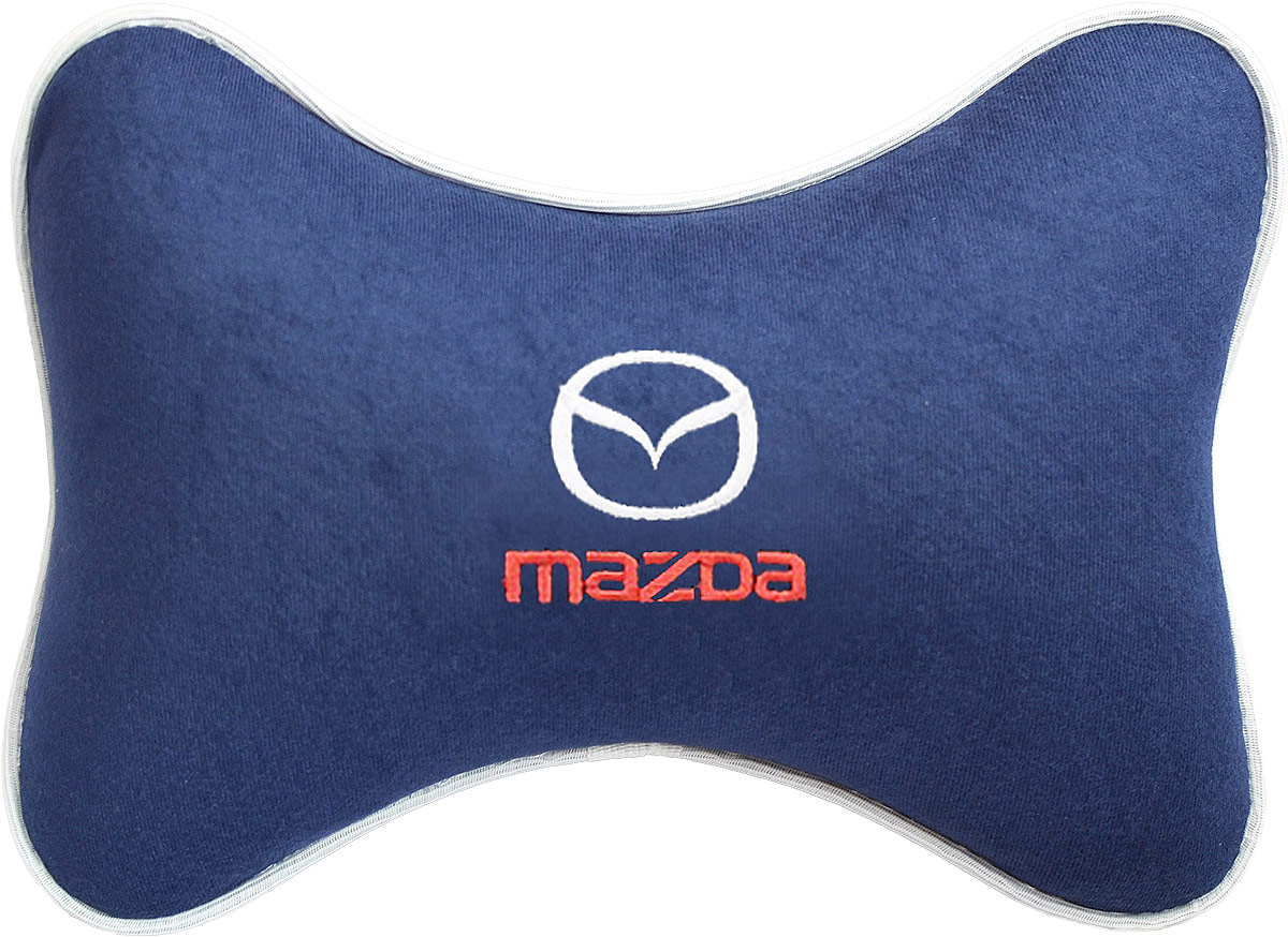 Подушка на подголовник Auto Premium Mazda, цвет: синий. 3748237482Подушка на подголовник - это прежде всего лучший способ создать комфорт для шеи и головы во время пребывания в автомобильном кресле. Большинство штатных подголовников устроены так, что до них попросту не дотянуться. Данный аксессуар полностью решает эту проблему, создавая мягкую ортопедическою поддержку. Подушка крепится к сиденью, а это значит один раз поставил - и забыл.Меньше утомляемость - а следовательно выше внимание и концентрация на дороге.Одинакова удобна для пассажира и водителя.Подушка выполнена из велюра.